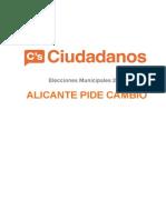 Programa Ciudadanos Alicante