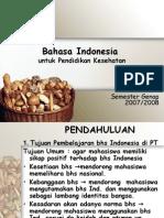 Bahasa Indonesia Untuk Pendidikan Kesehatan
