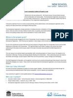 school fact sheet - march 2013