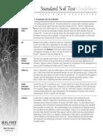 Standard Soil Test Guidelines