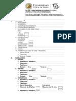 Ficha de Registro de Alumno en Practica Pre Profesional Original
