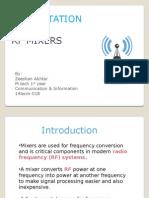 PRESENTATION ON RF MIXERS