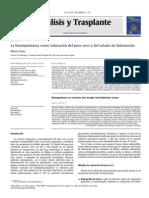 Diálisis y Trasplante Volume 31 Issue 4 2010 La Bioimpedancia Como Valoración Del Peso Seco y Del Estado de Hidratación (1)