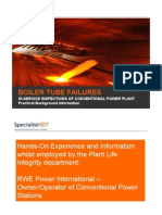 Boiler Tube Failures