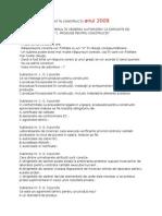 Subiecte examen Diriginte Santier 2006 Si 2009