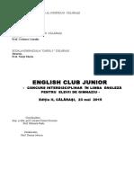 English Club Junior 2015