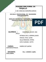 Oferta y Demanda de Alcachofa y Pimiento Piquillo en Conserva