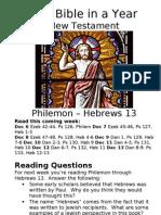 6 NT Philemon to Hebrews 12