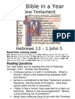 7 NT Hebrews 15 to I John