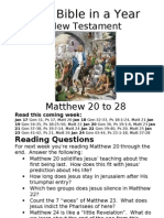 11 NT Matthew 20 to 28