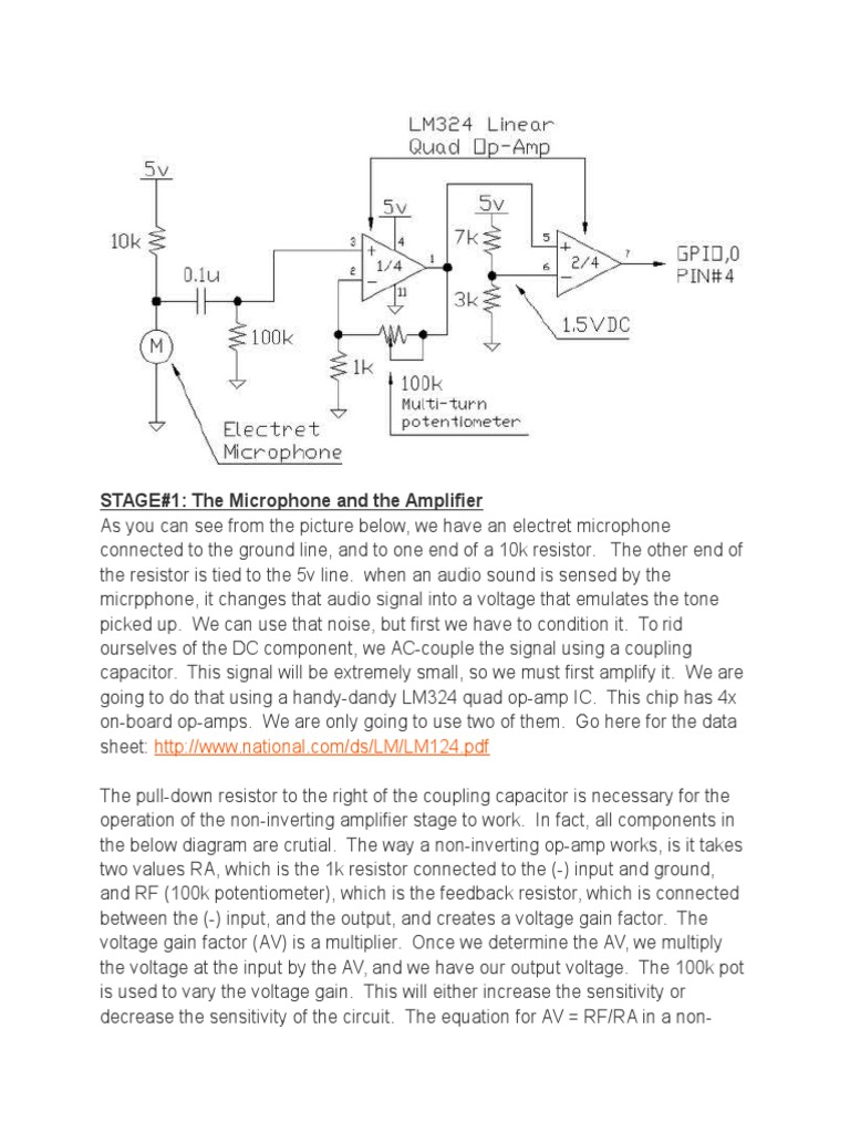 Clap Switch Operational Amplifier Electret Mic Schematic