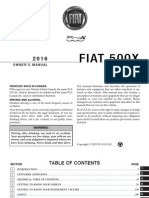 2016 Fiat 500X Owners Manual USA 1st Edition