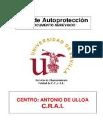 Plan Autoproteccion CRAI Antonio de Ulloa