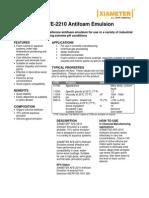 Antiespumante Xiameter Afe-2210 Emulsion