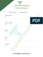 Engleza Medicala Nivel Incepator