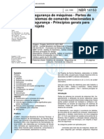 NBR 14153 - 1998 - Seguranca de Maquinas - Partes DeSistemas de Comando RelacionadasA Seguranca - Principios Gerais ParaProjeto