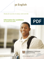 First Information for Candidates 2015 Document