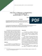 Campos Vargas, H. - El Porqué y Cómo en La Onomástica en La Aulularia de Plauto