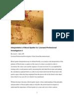 Akin's Interpretation of Blood Patterns