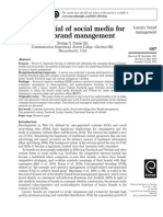 Marketing Intelligence & Planning Volume 30 Issue 7 2012 [Doi 10.1108%2F02634501211273805] Jin, Seung-A Annie -- The Potential of Social Media for Luxury Brand Management