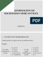 Transformacion de sociedades mercantiles