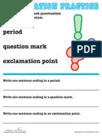 Basic Punctuation 2 Worksheet