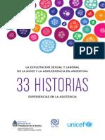 UNICEF - 33historias. Explotación Sexual y Laboral de La Niñez y Adolescencia en Argentina