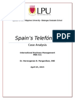 Telefonica Case Analysis