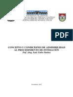 Concepto y Condiciones de Admisibilidad