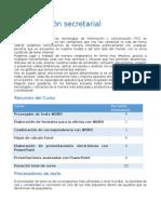 Plan de Trabajo Computación Secretarial
