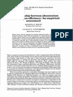 The Relationship Between Absenteeism