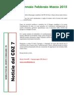 Newsletter di GENNAIO, FEBBRAIO E MARZO 2015 del Gruppo PD di Zona 7-Milano