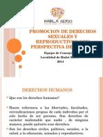 Promocion de Derechos Sexuales y Reproductivos Con Perspectiva