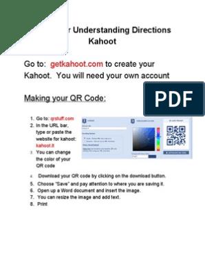 Kahoot and QR Codes