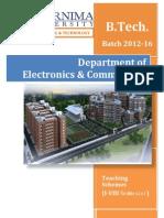 Pu Set b.tech Ec Schemes 2012-16