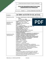 Ficha de Seguridad Acido Acetico