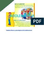 Cambios Físicos y Psicológicos de La Adolescencia