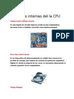 Partes Internas Del La CPU
