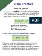 Ejercicio práctico Gestion de Stocks