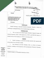 Complaint - With Case No Etc
