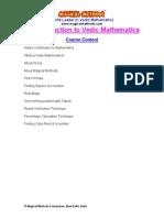 An_Intro_course on Vedic Mathematics