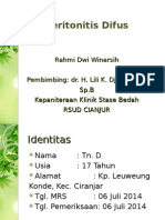 Laporan Kasus 1 Peritonitis Difus e.c. App Perforasi