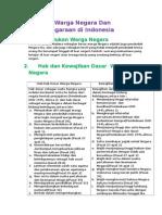 Kedudukan Warga Negara Dan Perwarganegaraan di Indonesia.docx