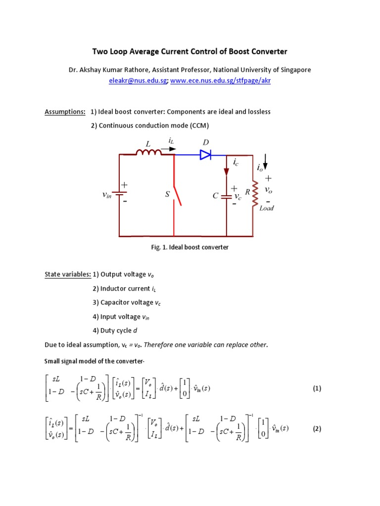 Control Boost Electrical Engineering Electronics Voltage Controlled Capacitors And Inductors