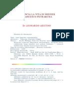 Vita Petrarca Leonardo Bruni