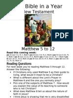 9 NT Matthew 5 to 12
