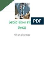Exercicio Fisico Em Altitude