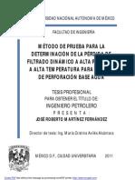Filtracion Estatica y Fluidos de Control