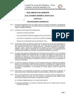 Reglamento de Admision General Mayo 2015