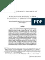 Artigo - Funcionalidades Ambientais de Solos Altomontanos Na Serra Da Igreja, Paraná